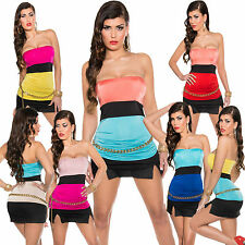 Polyester Sleeveless Bandeau Other Tops for Women