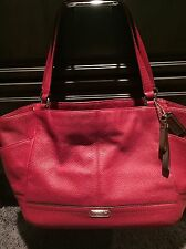 Coach Large Red Tote EUC