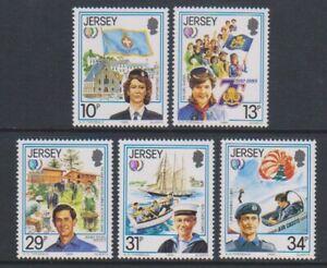 Jersey - 1985 , International Youth Año Juego - MNH - Sg 360/4