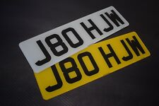 Pair Short Small 6 digit Road Legal Number Plate MOT Compliant - FREE POSTAGE