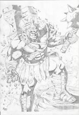 "Hulk Gladiator (11""x17"") original and unique 1/1 comic art by Ronan Vieira"