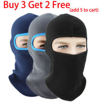 Winter Warm Hats Cap Fleece Ski Snow Mask Caps Hood Neck Hat Balaclava Adult UT