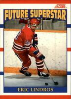 Eric Lindros Flyers 1990-91 Score (ENGLISH) Rookie Hockey Card #440