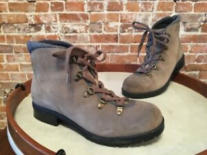Clarks Taupe Suede Water Resistant Hiking Boots - Faralyn Alpha NEW