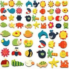 24Pcs Wholesale Animals Wooden Fridge Magnet Sticker Cute Funny Refrigerator Toy