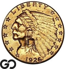 1926 Quarter Eagle, $2.5 Gold Indian, BU++ ** Free Shipping!