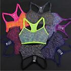 Women Workout Tank Top Yoga Fitness Seamless Racerback Sports Bra Padded Stretch