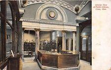 D25/ Lima Ohio Postcard 1911 Allen County Interior Public Library Building