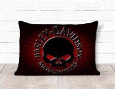 Skull Harley Davidson Motorcycle Logo Pillow Case