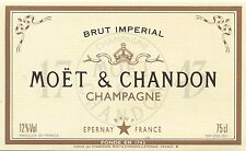 ETIQUETTE DE CHAMPAGNE MOET ET CHANDON EPERNAY / BRUT IMPERIAL