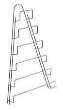 Porta coperchi per pentola a 6 spazi politermico Metaltex 364006