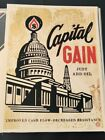 Capital Gain by Shepard Fairey Signed #d/450 Obey Art Print Poster 2015