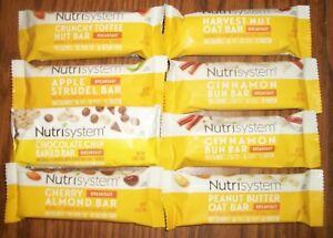Lot of 8 Nutrisystem Breakfast Bars  -- Fresh 2021-2022 Dates -- Good Variety