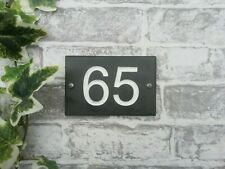 Engraved Honed Slate House Sign - House Number Plaque 15x10cm HIGH QUALITY