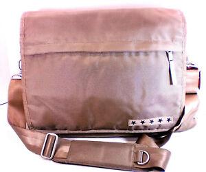 Ju-Ju-Be JJB Messenger Shoulder Diaper Bag - Silver/Orange Multi Use Bag NICE!