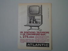 advertising Pubblicità 1962 ATLANTIC FRIGORIFERO/TELEVISORE