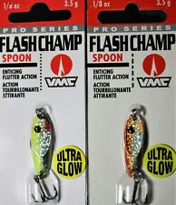 Vmc ice fishing Flashchamp Spoon 1/8 oz. (Lot of 2) jig jigging lure
