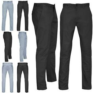 Mens Casual Chino Trousers Skinny Slim Fitted Stretchy Plain Jeans Cotton Pants