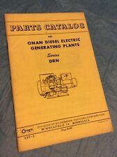 Onan Drn Diesel Electric Generating Plants Parts Catalog Manual List Book Guide
