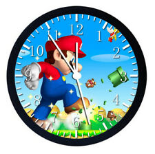 Super Mario Black Frame Wall Clock Nice For Decor or Gifts W21