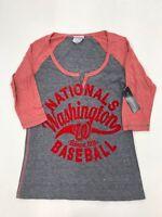 MLB Team Apparel Women's Washington Nationals Velvet Letter Sample Small Velvet