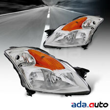 For 2007-2009 Nissan Altima 4Dr Sedan Chrome Headlights Replacement Lamps Set