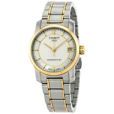 Silver and White Mother of Pearl Titanium Tissot Watch T0872075511700 7611608264003