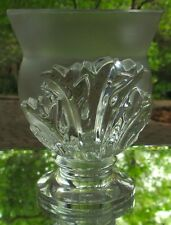 Lalique Crystal St. Cloud Acanthus Leaf Heavy Vase France in Original Box