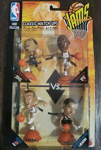 1999 NBA JAMS 4 PACK FIGURES Michael Jordan, Iverson, Kidd, Stoudamire