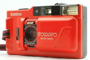 [EXC+5 +Strap] Konica TOMATO AUTO DATE Point & Shoot Film Camera From JAPAN