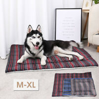Soft Fleece Dog Bed for Small Large Dogs Pet Sleep Mat Mattress for Crate Cage