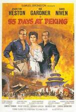 55 DAYS AT PEKING Movie POSTER 27x40 Charlton Heston Ava Gardner David Niven
