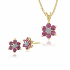 Parure con diamanti e gemme di zaffiro