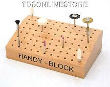 Hardwood Handy Block For Burs, Needle Files, Rotary Accessories, Etc