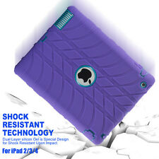 "For iPad 2 3 4 /Mini /Air /Pro 9.7"" US Shockproof Rubber KID Military Case Cover"