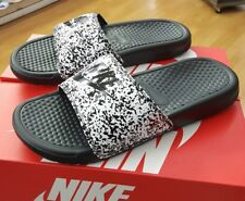 NIKE BENASSI JDI PRINT 631261 100 WHITE/BLACK MEN US SZ 10