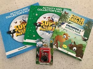 WOOLWORTHS SUPER ANIMALS & COLLECTORS ALBUM  WTH monkey CARD READER EDUCATIONAL