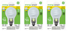 NEW! GE LIGHTING Energy Smart CFL Light Bulb 20-Watt (Equals 75-Watt) 74438 3-PK