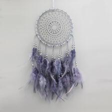 elegant purple feathers dream catcher home bedroom window wall decoration