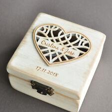 Personalized Wedding Ring Box Custom Ring Holder Wood Ring Bearer Wedding Gift