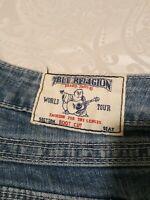 True Religion Jeans Section Bootcut Flap Pocket Light Wash Size 27