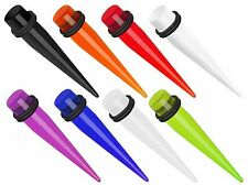 "Pair Acrylic Expansion Tapers Ear Expander Plugs Gauges 14g thru 1"" available!"