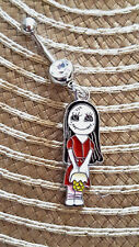 Nightmare Jack skellington  Sally his girlfriend  Belly Ring Navel Ring 14G S.S.