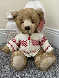 Harrods Collectible Souvenir 2011 Christmas Teddy Bear Freddie With Swing Tag