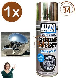 1x AX Chrome Effect Spray Paint Aerosol Auto Extreme Car Van Bike Wheel 400ml