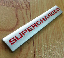 Red Supercharged Car Tailgate Badge Emblem Plate for Land Range Rover Sport Auto