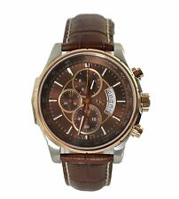 Gc Men's Brown Leather Band Steel Case Analog Watch X81002G4S