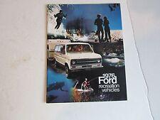 Vintage 1976 Ford Recreation Vehicles Brochure