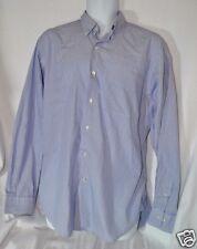 LAUREN Ralph Lauren Green Label Blue Pinstripe Button Down Shirt 16 34/35 Cotton
