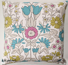 Double Sided Graphic Floral 1960s DAISYCHAIN Cushion Cover JOHN LEWIS  Fabric